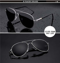 Load image into Gallery viewer, Aviation Metail Frame Quality Oversized Spring Leg Alloy Men Sunglasses Polarized Brand Design Pilot Male Sun Glasses Driving