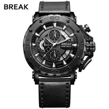 Load image into Gallery viewer, BREAK Chronograph Casual Classic Watches Mens Luxury Brand Quartz Military Sport Watch Genuine Leather