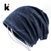 Load image into Gallery viewer, Warm Winter Beanies Men Super Soft Warm Fabric Slouchy Skullies Unisex Cold Weather Snow Gear
