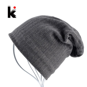 Warm Winter Beanies Men Soft Warm Fabric Slouchy Skullies Unisex Cold Weather Snow Gear