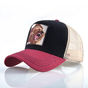 Big Bad Bear Cap Snapback Baseball Caps Men Unisex Cool Trucker Hats Many Colors