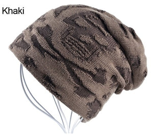 Cool Skull Beanie For Men Unisex Warm Winter Skullies Soft Fabric 3 Color Choices