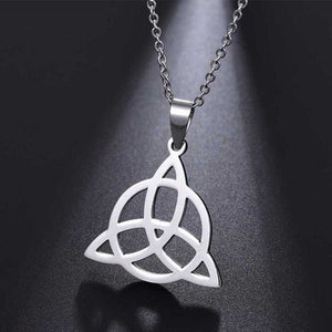 Viking Knot Pendant Necklaces Men 316L Stainless Steel Pendants Irish Jewelry