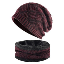 Load image into Gallery viewer, Warm Beanies For Men Matching Scarf Snood Available Soft Warm Fabric Skullies Unisex