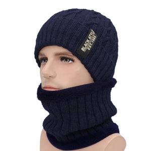 AETRUE Brand Winter Skullies Beanies Men Winter Knitted Hat Scarf