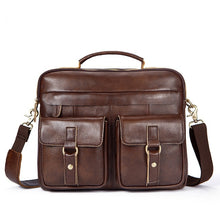 Load image into Gallery viewer, OGRAFF Genuine Leather Bag Men Messenger Bags Handbag Briescase Business Men Shoulder Bag High Quality 2018 Crossbody Bag Men