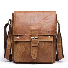 Load image into Gallery viewer, KAVIS Messenger Bag 2018 New Spring Men Shoulder bag Genuine Leather Small Male Man Crossbody bags for Famous Brands Handbags