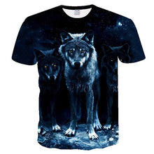 Load image into Gallery viewer, BIANYILONG 2018 men t shirt Wolf print T shirts 3D Men T-shirts Novelty Animal Tops Tees Male Short Sleeve Summer O-Neck Tshirts