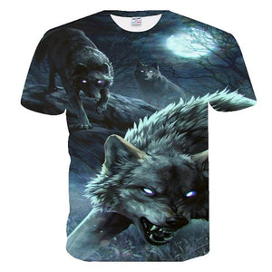 BIANYILONG 2018 men t shirt Wolf print T shirts 3D Men T-shirts Novelty Animal Tops Tees Male Short Sleeve Summer O-Neck Tshirts