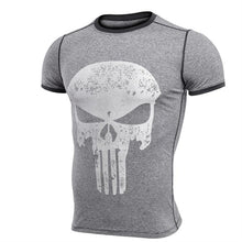 Load image into Gallery viewer, Punisher Running Shirt Men T-shirt Short Sleeve Compression Shirts Gym T Shirt Fitness Sport Shirt Mens Rashgard Soccer Jersey