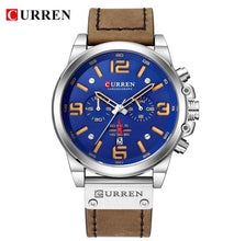 Load image into Gallery viewer, CURREN 8314 Mens Watches Top Brand Luxury Chronograph Fashion Male Clock Genuine Leather Waterproof Sport Military Wristwatch