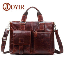 Load image into Gallery viewer, JOYIR Genuine Leather Men Bag Men Briefcases Men Messenger Bag Male Leather Business Computer Laptop Bags Crossbody Bags Handbag