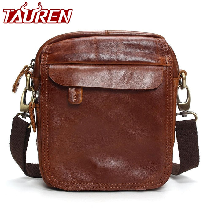 Vintage Cow Genuine Leather Messenger Bags Men Travel Business Crossbody Shoulder Bag For Man Sacoche Homme Bolsa Masculina Bags