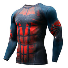 Load image into Gallery viewer, Superman Punisher Fitness Rashgard Running Shirt Men T-shirt Long Sleeve Compression Shirts Gym Wear