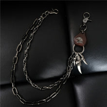 Load image into Gallery viewer, Black Heavy Jean Chain Wallet Biker Rock Punk Hip-pop Metal Key Chain Different Styles