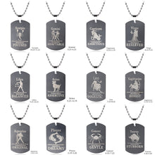Load image into Gallery viewer, Constellation Dog Tag Star Sign Astrological Necklaces For Men Stainless Steel Necklaces