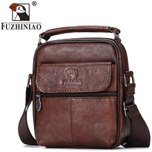 Load image into Gallery viewer, FUZHINIAO Genuine Leather Men Messenger Bag Hot Sale Male Small Man Fashion Crossbody Shoulder Bags Men's Travel New Handbags