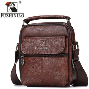 FUZHINIAO Genuine Leather Men Messenger Bag Hot Sale Male Small Man Fashion Crossbody Shoulder Bags Men's Travel New Handbags