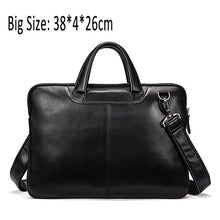 Load image into Gallery viewer, WESTAL Men's Bag Genuine Leather 14 inch laptop Briefcases Crossbody Bags for Men Totes Leather Messenger Bag Men Shoulder Bags