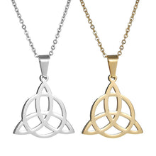 Load image into Gallery viewer, Viking Knot Pendant Necklaces Men 316L Stainless Steel Pendants Irish Jewelry