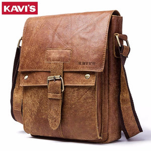 KAVIS Messenger Bag 2018 New Spring Men Shoulder bag Genuine Leather Small Male Man Crossbody bags for Famous Brands Handbags
