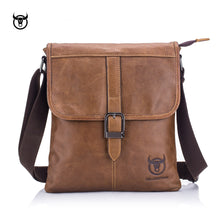 Load image into Gallery viewer, BULLCAPTAIN vintage Genuine Leather Men's Messenger bag cow leather shoulder bag for male fashion man crossbody bag Handbags