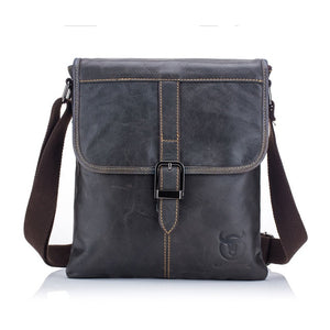 BULLCAPTAIN vintage Genuine Leather Men's Messenger bag cow leather shoulder bag for male fashion man crossbody bag Handbags