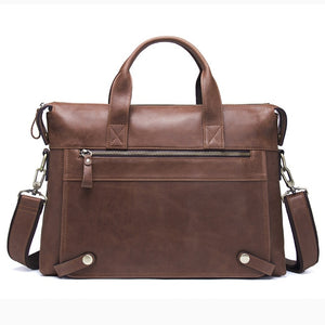 CONTACT'S Genuine Leather Men Bag Male Casual 13.3 Inch Laptop Briefcase Shoulder Crossbody Bags Business Bags Messenger Bag