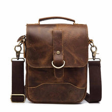 "Load image into Gallery viewer, Original Leather Male Design Casual Shoulder messenger bag cowhide Fashion 8"" Tote Crossbody Mochila Satchel bag For Men 143g"