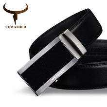 Load image into Gallery viewer, COWATHER 2018 top quality cow genuine fashion leather men belts for men automatic buckle strap cinto masculino free shipping