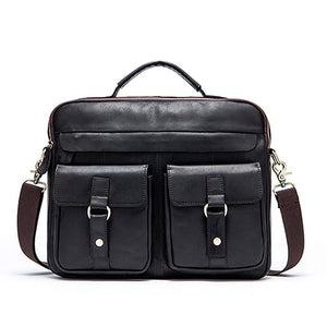 WESTAL Men's Briefcase Work/office Bags for Men Genuine Leather Messenger Laptop Bag Leather Business Briefcase Bag for Document