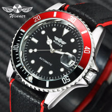 Load image into Gallery viewer, WINNER Classic Mens Watches Top Brand Luxury Auto Mechanical Genuine Leather Strap Calendar