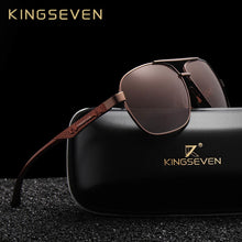 Load image into Gallery viewer, KINGSEVEN 2019 Brand Men Aluminum Sunglasses HD Polarized UV400 Mirror Male Sun Glasses Women For Men Oculos de sol