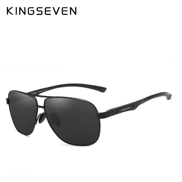 KINGSEVEN 2019 Brand Men Aluminum Sunglasses HD Polarized UV400 Mirror Male Sun Glasses Women For Men Oculos de sol