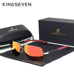 KINGSEVEN 2019 Brand Men Aluminum Sunglasses HD Polarized UV400 Mirror Male Sun Glasses Women For Men Oculos de sol N724
