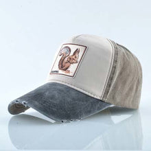 Load image into Gallery viewer, Squirrel Baseball Cap Men Unisex Cool Animal Patch Trucker Hats 4 Styles25