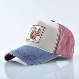 Squirrel Baseball Cap Men Unisex Cool Animal Patch Trucker Hats 4 Styles25