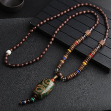 "Load image into Gallery viewer, Handmade Nepal Necklace Buddhist Mala Wood Beads Pendant Necklaces 24-26"" Men"
