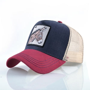 DONKEY Baseball Caps Men Unisex Cool Trucker Hats Ass Animal Patch Novelty Gift Many Styles