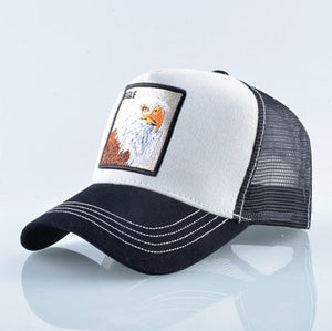 EAGLE Baseball Caps Men Unisex Cool Trucker Hats Animal Patch
