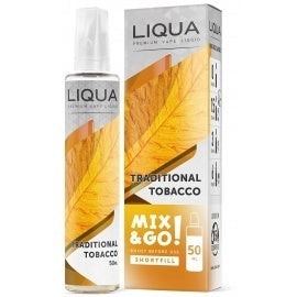Liqua Mix & Go! Traditional Tobacco 50ml Nicotine Free