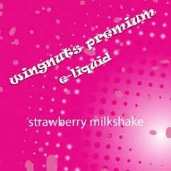 Wingnuts Shortfill Strawberry Milkshake 80ml Nicotine Free