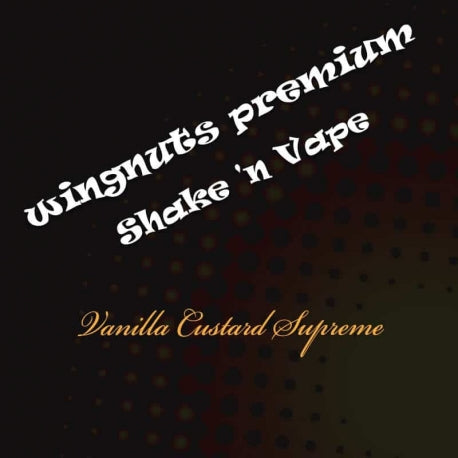 Wingnuts Shortfill Vanilla Custard Supreme 80ml Nicotine Free