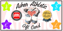 Load image into Gallery viewer, Asher Athletic Gift Card