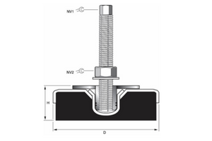 Heavy Duty Machine Mount - For Anti-Vibration & Levelling Performance - Machine Mounts