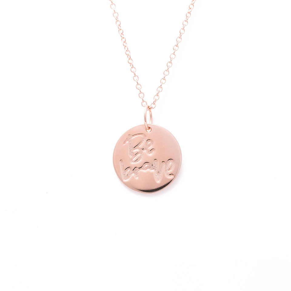 Be Brave Necklace #femboss