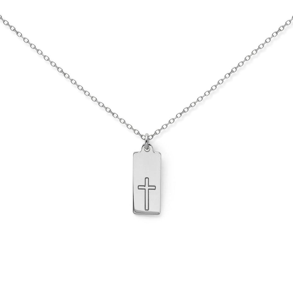 Make a Wish Cross Tag Necklace