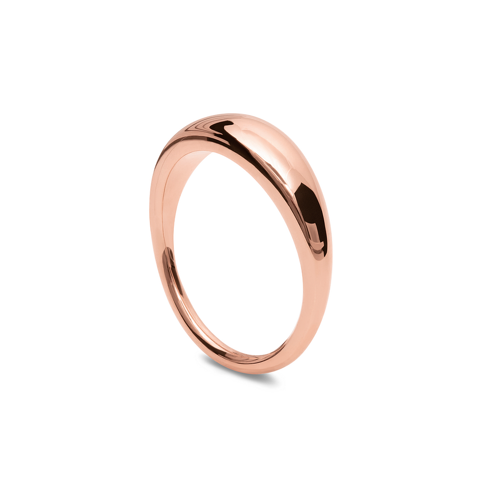 Rose Gold Vermeil Bombé Bold Ring Stilnest