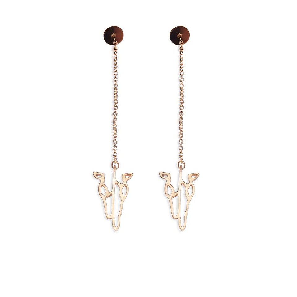 Buffalo Offering Earrings Matte