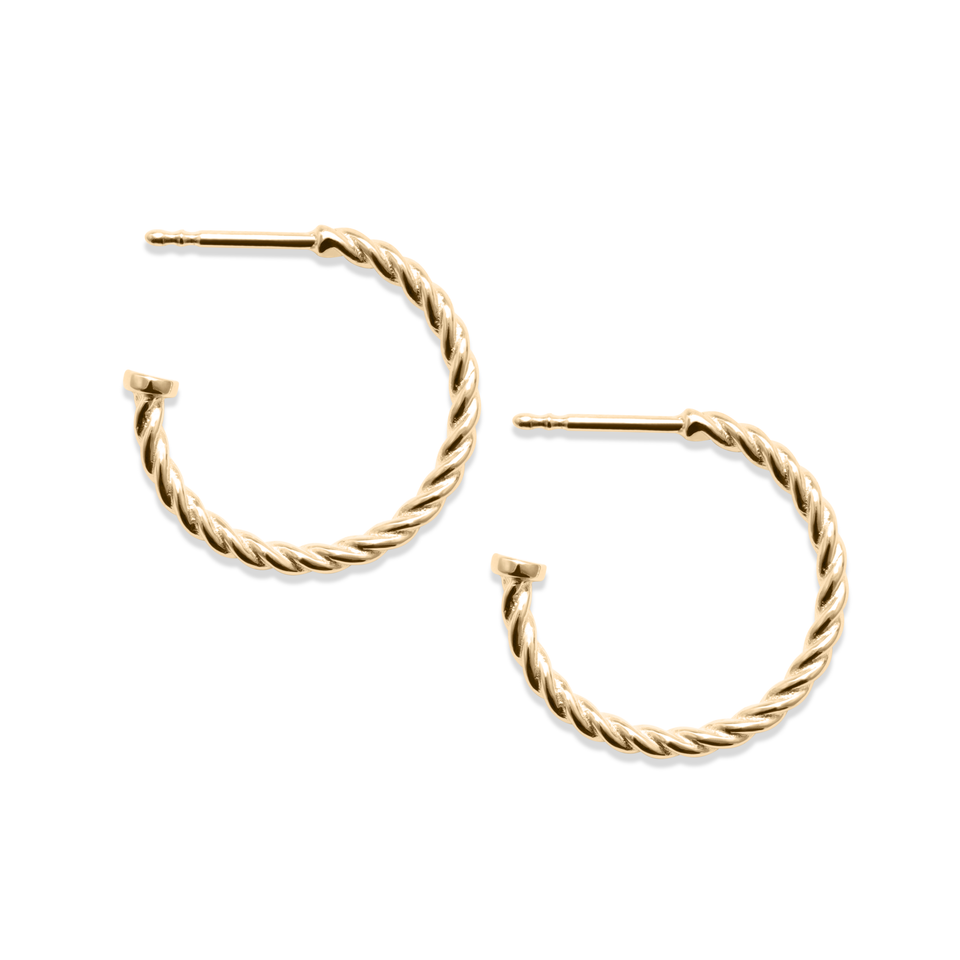 Dune Hoops (Pair) - Solid Gold